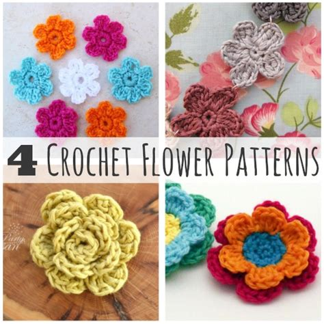 free patterns and instruction on making flower hair clips crochet a day 4 crochet flower patterns make and takes