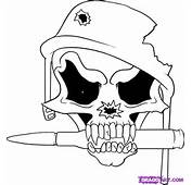 How To Draw A Soldier Skull Step By Skulls Pop Culture FREE