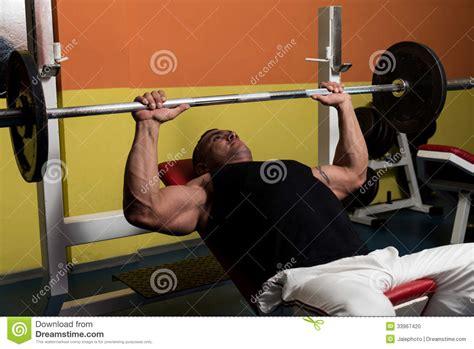 bodybuilding bench press workout bodybuilder training stock photo image 33967420