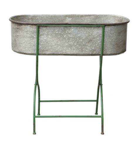 metal planter stand metal stand w trough style planter vintage