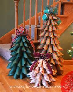Paper cone christmas trees by crafts for all seasons recycled crafts