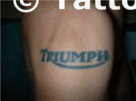 triumph logo tattoo