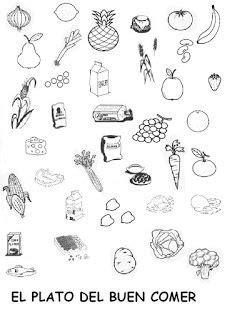 imagenes para colorear plato del buen comer educando y jugando plato del bien comer para colorear