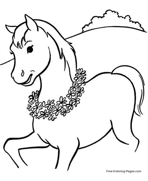 free free horses coloring pages
