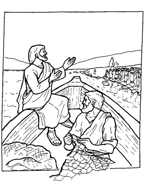 coloring pages jesus in the boat jesus teaching coloring page coloring home
