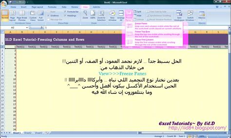 tutorial excel freeze panes lil d thoughts transitions excel tutorial 1 freezing