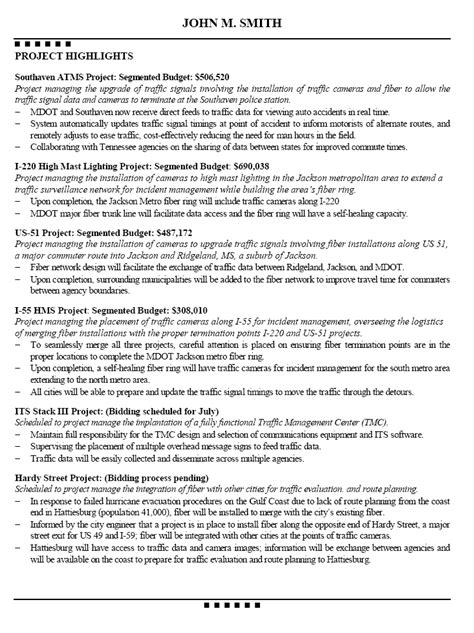 Resume Project Manager Civil Engineering Typical Mechanical Engineering Resume