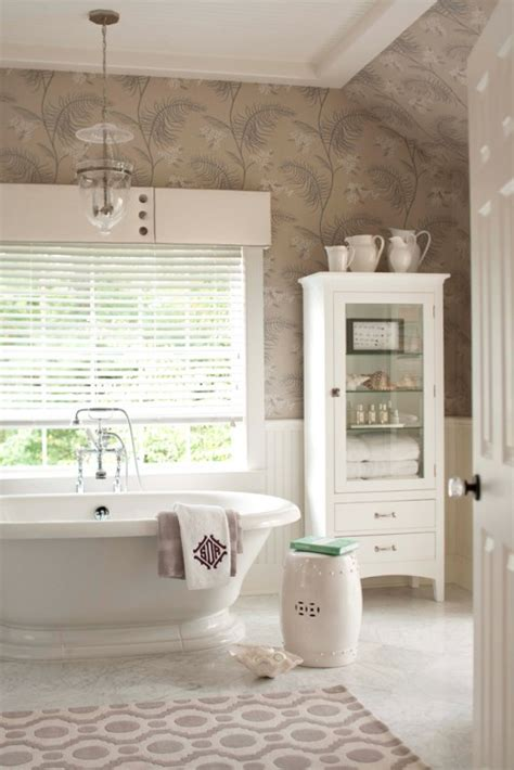 bathroom wallpaper border ideas 30 bathroom wallpaper ideas shelterness