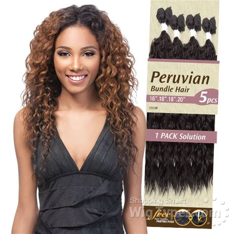 Peruvian Hair Types by Invisible Part Weave Synthetic Weave Top Closure
