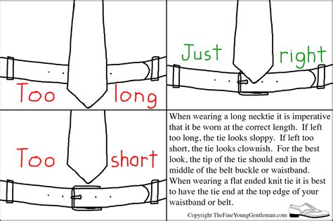length of on correct tie length the gentleman
