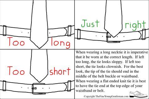 on correct tie length the gentleman