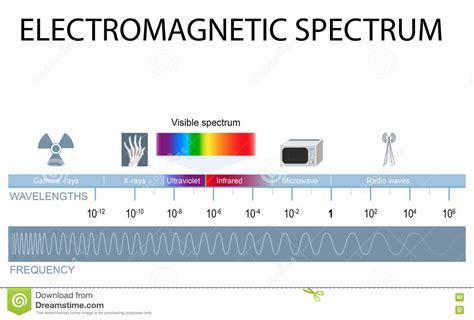 Electromagnetic L electromagnetic spectrum stock vector image of gamma