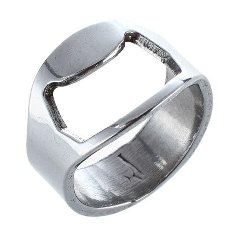 Ring Bottle Opener B445 5x stainless steel metal finger thumb keyring ring bottle opener bar hy ebay