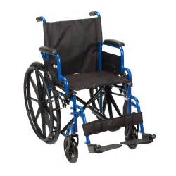 Wheelchair Replacement Seat Upholstery Wc40 Bls18fbd Sf Blue Streak Wheelchair With Flip Back