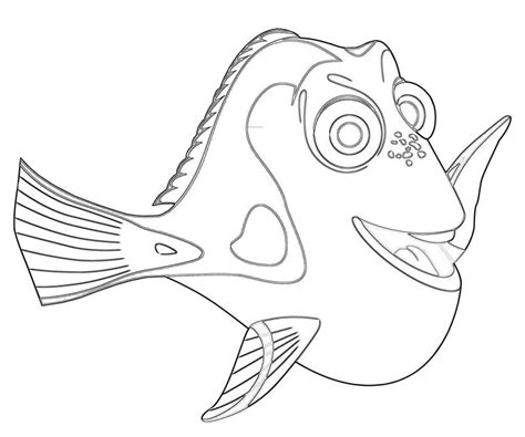 Dory Fish Coloring Page | dory fish avondale style