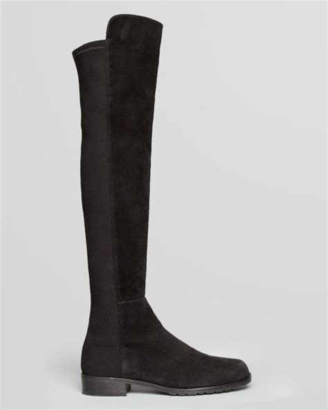 stuart weitzman 5050 stretch suede the knee boots in