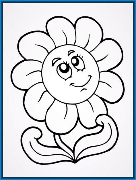 dibujos para pintar con temperas dibujos para colorear flores sencillas archivos dibujos