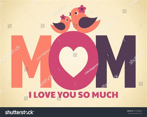 mother s day designs greeting card design mothers day stock vector 127308056