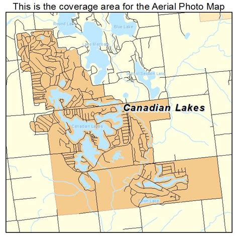 map of canadian lakes aerial photography map of canadian lakes mi michigan