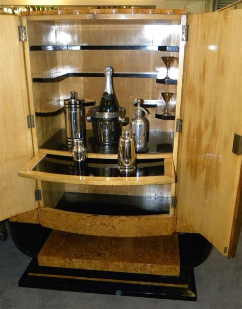 Dining Room Liquor Cabinets Deco Epstein Bar Liquor Storage Cabinet Sold