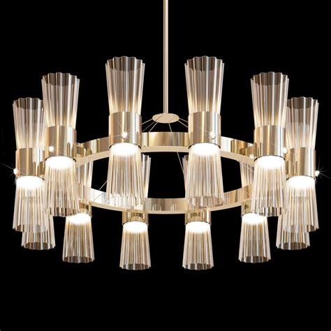 Designer Chandelier Lighting Modern Gold Leaf Murano Glass Chandelier
