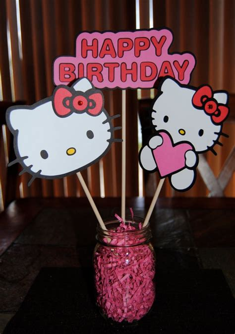 hello kitty party centerpiece ideas www imgkid com the