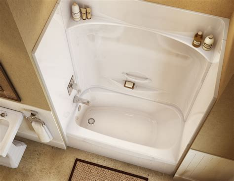bathroom with bathtub and shower kdts 2954 alcove or tub showers bathtub maax