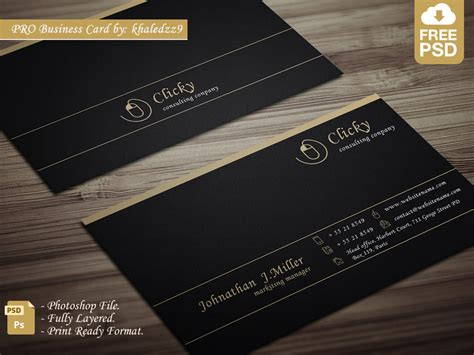 Pro Business Card By Khaledzz9 On Deviantart Business Card Template Ai File Free