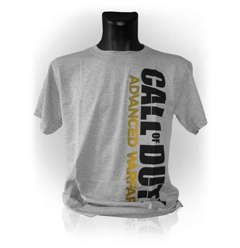 T Shirt Call Of Duty Best 01 call of duty advanced warfare vertical logo large t shirt grey melange for only 163 23 24