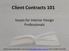 interior design professionals contracts 101 issues for interior design professionals