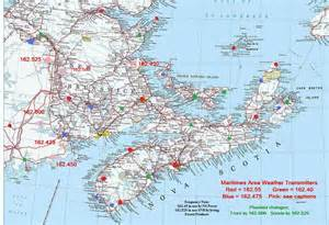 canada maritimes map weatheradio