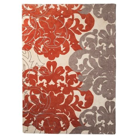Coral And Gray Rug threshold exploded damask area rug coral gray target