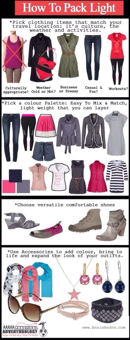 8 Tips To Packing And Travelling Light by How To Pack Light Trusper
