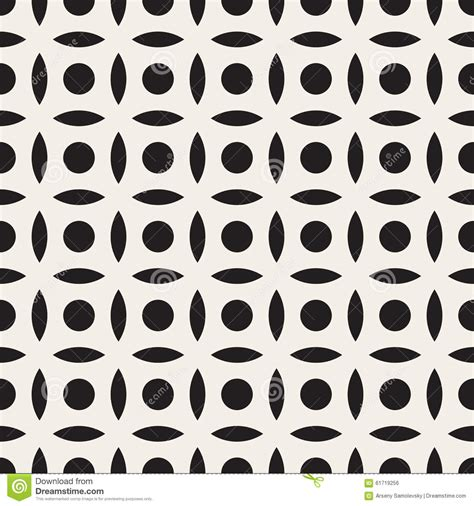 simple pattern vector ai vector seamless black and white simple circle arc square