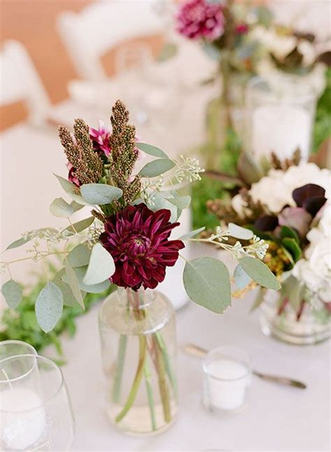 bud vase wedding centerpieces jars flower and centerpieces
