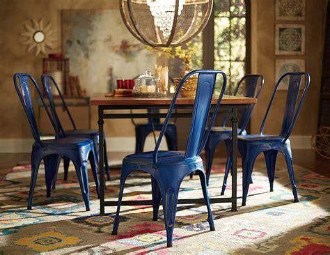 Amara Blus homelegance amara blue metal chair blue 5034bues