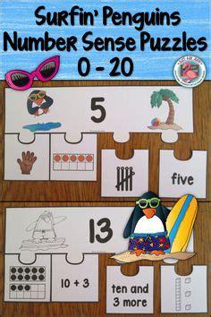 Color Sense 1 1 Black numbers sense 0 20 surfin penguins puzzles activities