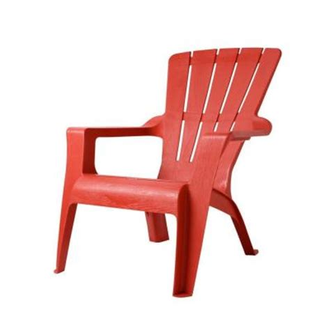 Plastic Patio Chairs Home Depot Us Leisure Chili Patio Adirondack Chair 167073 The Home Depot