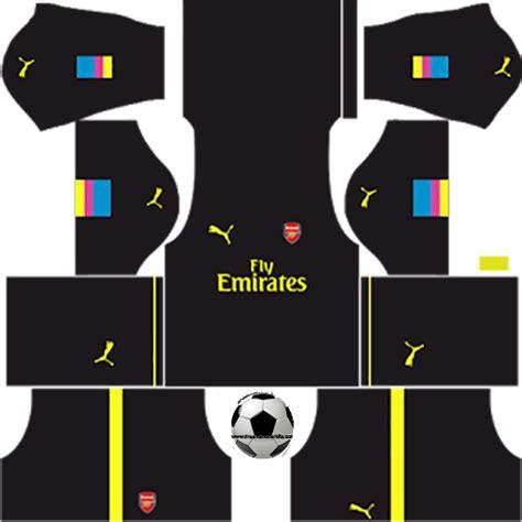 arsenal logo dream league soccer arsenal 16 17 goalkeeper home dream league soccer kits