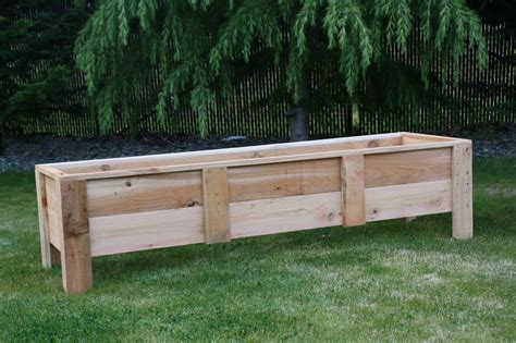 Vegetable Planters Cedar Deck Planters Garden Boxes Made In The Usa Grow