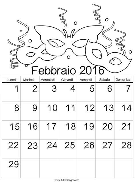 calendario febbraio 2016 da stare calendario febbraio 2016 da calendario 2016 da colorare febbraio tuttodisegni com