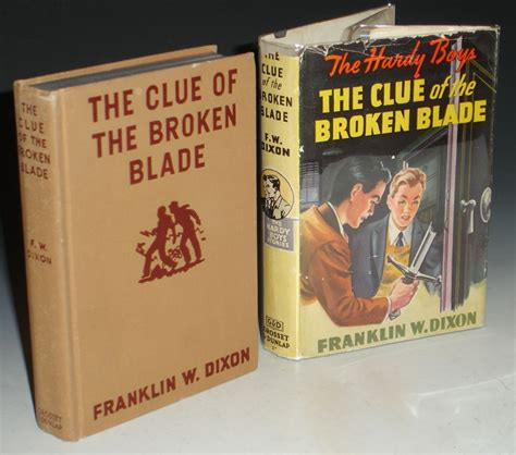 the broken books the clue of the broken blade the hardy boys by dixon