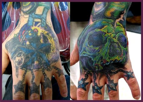 tattoo cover up on hand skull hand coverup tattoo by jasonrhodekill on deviantart