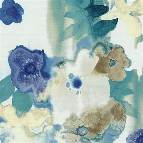 watercolor upholstery fabric blue and aqua watercolor floral fabric contemporary