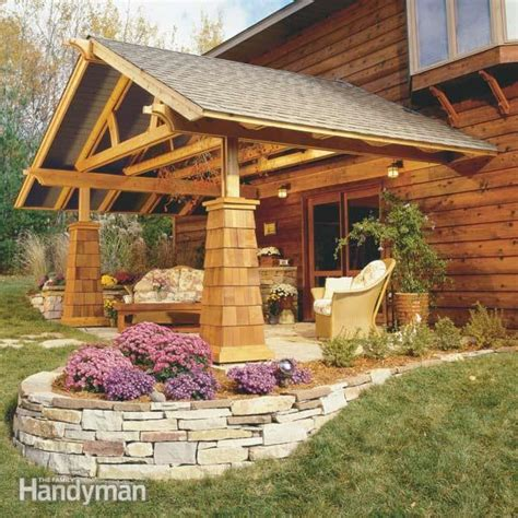 building an outdoor room how to build an outdoor living room the family handyman