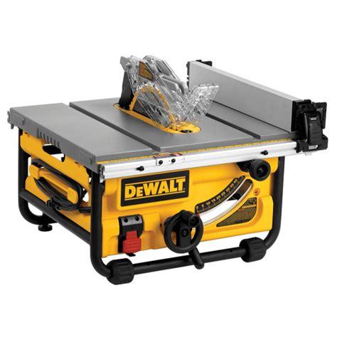 dewalt jobsite table saw dewalt dwe7480 10 in 15 site pro compact jobsite