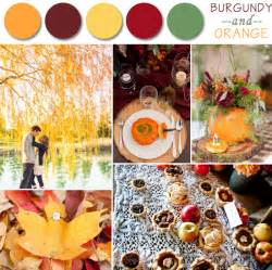 wedding fall colors fall wedding color palette ideas 2014 trends