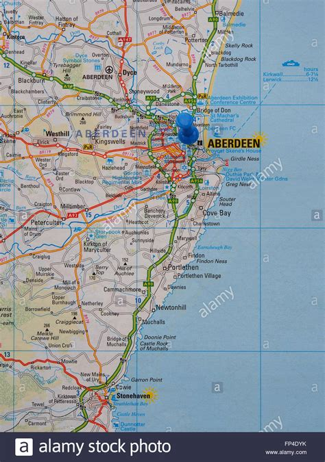road map us east coast road map of the east coast of scotland showing aberdeen