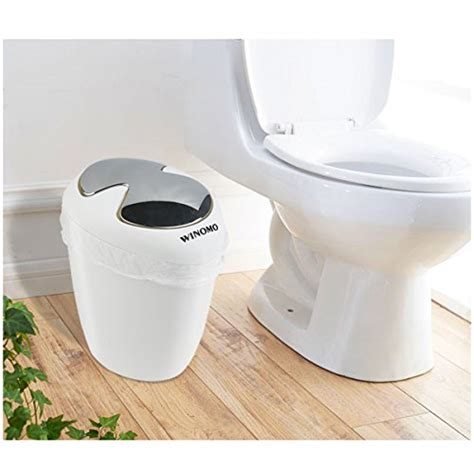 what is 1 75 bath winomo bathroom trash can 6 5 liter 1 75 gallon trash with