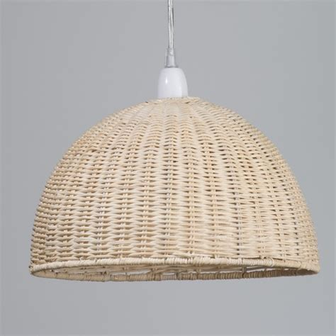 Wooden Ceiling Light Shades Woven Wooden Easy Fit Pendant Light Rattan Dome L Shade Litecraft Ebay